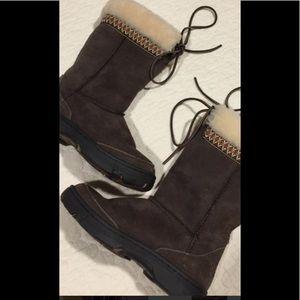 Ugg Australia Brown Leather Sheepskin Boots